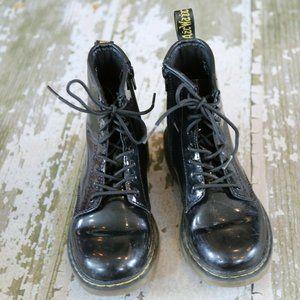DR MARTENS Black DELANEY Patent Leather Boots 3